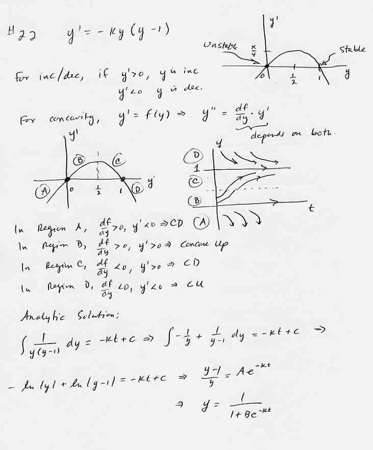 Differential Equations Class Page – Differential Equations Worksheet
